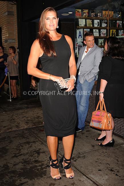 WWW.ACEPIXS.COM . . . . . .September 4, 2012...New York City....Brooke Shields attends the 'Bachelorette' New York Premiere at Landmark's Sunshine Cinema on September 4, 2012 in New York City ....Please byline: KRISTIN CALLAHAN - ACEPIXS.COM.. . . . . . ..Ace Pictures, Inc: ..tel: (212) 243 8787 or (646) 769 0430..e-mail: info@acepixs.com..web: http://www.acepixs.com .