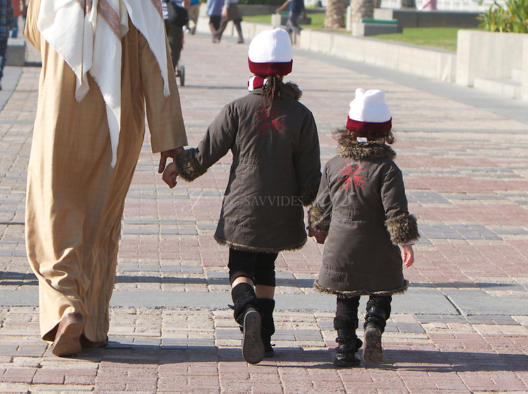 Daddy and the girls, Corniche of Doha, National Day, Qatar | Dec 10