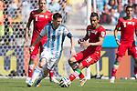 Lionel Messi (ARG), Reza Ghoochannejhad (IRI), JUNE 21, 2014 - Football / Soccer : FIFA World Cup Brazil 2014 Group F match between Argentina 1-0 Iran at Estadio Mineirao in Belo Horizonte, Brazil. (Photo by Maurizio Borsari/AFLO)
