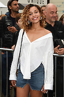 Izzy Bizu<br /> arrives for the TopShop UNIQUE catwalk show as part of London Fashion Week SS17, Old Spitalfields Market, London<br /> <br /> <br /> &copy;Ash Knotek  D3155  17/09/2016