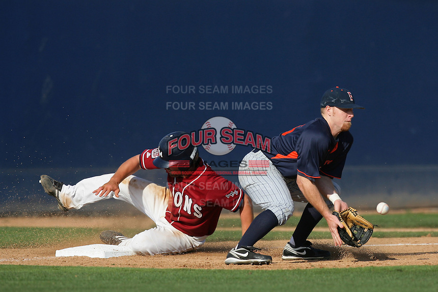 March 23, 2010: Joey Siddons of Cal. St. Fullerton during game  against Loyola Marymount at LMU in Los Angeles,CA.  Photo by Larry Goren/Four Seam Images