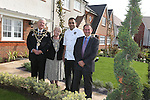 Anand George from Purple Poppadom who will be demonstrating his cooking skills at the Newport Food Festival with Mayor of Newport Councillor Cliff Suller, his wife Christine and Redrow Homes Managing Director Stuart Rowlands during a visit to the Mon Bank development.<br /> 25.09.13<br /> <br /> &copy;Steve Pope-FOTOWALES