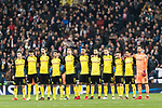 Borussia Dortmund squad getting into the field during the Europe Champions League 2017-18 match between Real Madrid and Borussia Dortmund at Santiago Bernabeu Stadium on 06 December 2017 in Madrid Spain. Photo by Diego Gonzalez / Power Sport Images