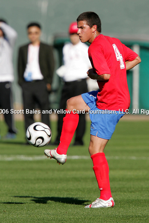 11 February 2006: Costa Rica's Gabriel Badilla. The Costa Rica Men's National Team defeated South Korea 1-0 at McAfee Coliseum in Oakland, California in an International Friendly soccer match.