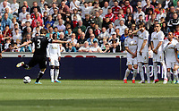 Pictured: (L-R) John Arne Riise, Nathan Dyer, Angel Rangel, Michu, Chico Flores, Jonathan de Guzman.<br />