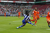 01.08.2015. Cologne, Germany. Pre Season Tournament. Colonia Cup. Valencia CF versus FC Porto.  Vincent Aboubakar slipping as he shoots.