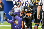 Southern Miss Golden Eagles running back Ito Smith (25) in action during the Zaxby's Heart of Dallas Bowl game between the Washington Huskies and the Southern Miss Golden Eagles at the Cotton Bowl Stadium in Dallas, Texas. Washington defeats Southern Miss 44 to 31.