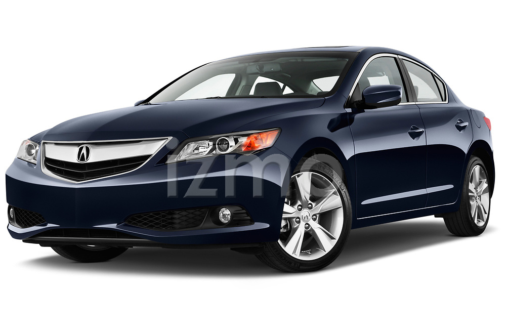 Low aggressive front three quarter view of a <br /> 2013 Acura ILX Tech