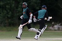 H Afzal and F Jacobs add to the Harold Wood total during Gidea Park and Romford CC vs Harold Wood CC, Shepherd Neame Essex League Cricket at Gidea Park Sports Ground on 6th July 2019
