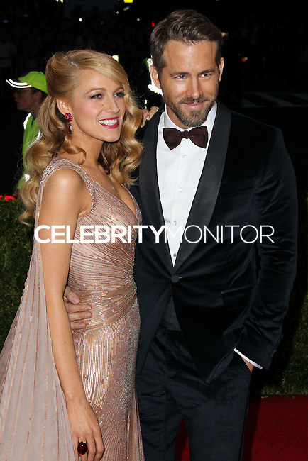 """NEW YORK CITY, NY, USA - MAY 05: Blake Lively, Ryan Reynolds at the """"Charles James: Beyond Fashion"""" Costume Institute Gala held at the Metropolitan Museum of Art on May 5, 2014 in New York City, New York, United States. (Photo by Xavier Collin/Celebrity Monitor)"""