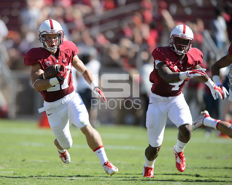 Stanford, California - Saturday, August 30, 2014: Stanford defeats UC Davis 45-0 at Stanford Stadium.