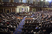 """Prime Minister Tony Blair of Great Britain addresses a Joint Session of the United States Congress in the U.S. Capitol in Washington, DC on July 17, 2003.  The Prime Minister said America must """"listen as well as lead"""" in the fight against terrorism. <br /> Credit: Ron Sachs / CNP"""