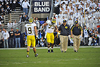 12 October 2013:  Penn State . The Penn State Nittany Lions defeated the Michigan Wolverines 43-40 in 4OTs at Beaver Stadium in State College, PA.