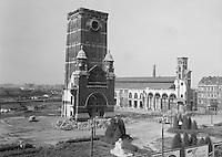 September 1965. Zuidstation in Antwerpen tijdens de afbraakwerken.