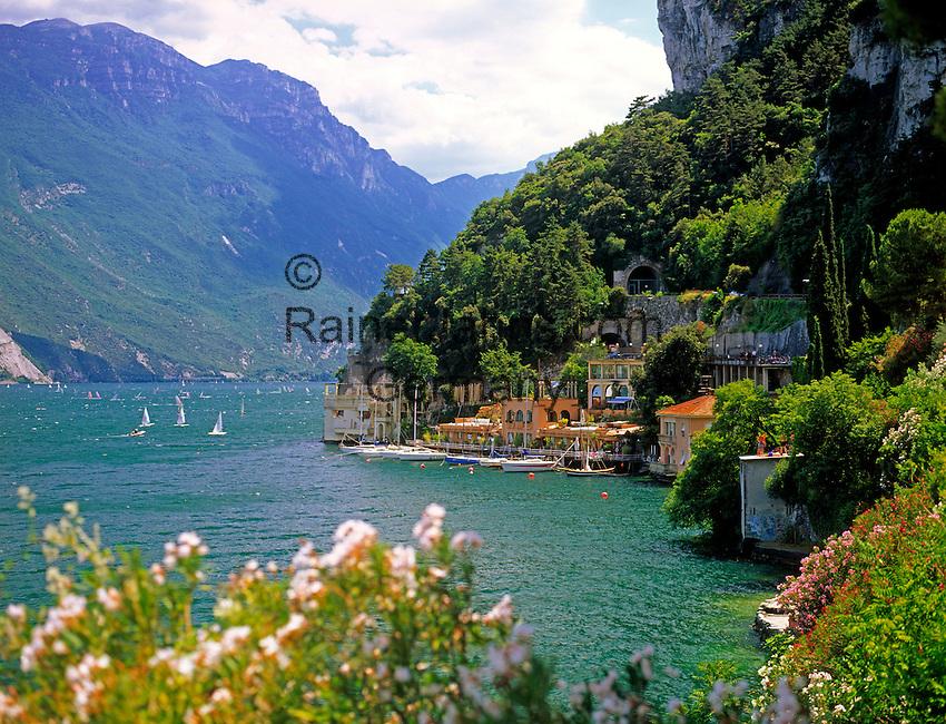 Italy, Trentino, Lake Garda, West banks near Riva del Garda