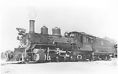 Left side view of K-27 #454.<br /> D&amp;RGW  Montrose, CO  ca 1937-1939