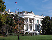 Stock photo of the South Portico of the White House in Washington, DC from the presidential motorcade in Washington, DC on Thursday, November 8, 2018.<br /> Credit: Ron Sachs / Pool via CNP