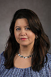 Mariella Palacios, Talent Acquisition Consultant, Human Resources, DePaul University, is pictured in a studio portrait Monday, Feb. 16, 2015. (DePaul University/Jeff Carrion)