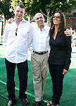 """WESTWOOD, CA. - October 26: Producer Mark Swift, CEO of DreamWorks Animation SKG Jeffrey Katzenberg and Producer Mireille Soria  arrive at the premiere of Dreamworks' """"Madagascar: Escape 2 Africa"""" at the Mann Village Theater on October 26, 2008 in Los Angeles, California."""