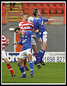 5/10/02       Copyright Pic : James Stewart                     .File Name : stewart-hamilton v stranraer 17.ALLY GRAHAM IS CAUGHT BETWEEN STRANRAER'S SANDY HODGE AND ALAN JENKINS....James Stewart Photo Agency, 19 Carronlea Drive, Falkirk. FK2 8DN      Vat Reg No. 607 6932 25.Office : +44 (0)1324 570906     .Mobile : + 44 (0)7721 416997.Fax     :  +44 (0)1324 570906.E-mail : jim@jspa.co.uk.If you require further information then contact Jim Stewart on any of the numbers above.........