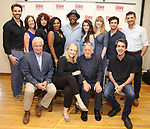 First Row: David Thompson, Susan Stroman, Hal Prince and Jason Robert Brown. Second Row: Michael Xavier, Karen Ziemba, Janet Dacal, Bryonha Marie Parham, Chuck Cooper, Kaley Ann Voorhees, Emily Skinner, Brandon Uranowitz and Tony Yazbeck attends the Meet & Greet for the Manhattan Theatre Club's Broadway Premiere of 'Prince of Broadway' at the MTC Studios on July 20, 2017 in New York City.