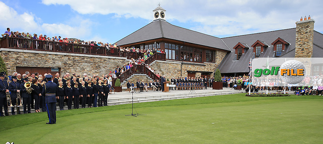 Scene at the Closing Ceremony after GB&amp;I win 3 and a half points during the Sunday Singles to win the 2016 Curtis Cup, played at Dun Laoghaire GC, Enniskerry, Co Wicklow, Ireland. 12/06/2016. Picture: David Lloyd   Golffile. <br /> <br /> All photo usage must display a mandatory copyright credit to &copy; Golffile   David Lloyd.