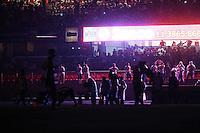 SÃO PAULO,SP, 21.10.2015 - SÃO PAULO-SANTOS - Queda de Energia em partida entre São Paulo e Santos  jogo de ida da semi-finais da Copa do Brasil no estádio Cicero Pompeu de Toledo, o Morumbi na região sul de São Paulo, nesta quarta-feira, 21. (Foto: William Volcov/Brazil Photo Press/Folhapress)