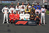 25th March 2018, Melbourne Grand Prix Circuit, Melbourne, Australia; Melbourne Formula One Grand Prix, race day; Class of 2018 driver photograph