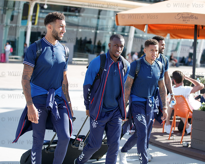 22.06.2019 Rangers arrive in Portugal: Connor Goldson, Glen Kamara, James Tavernier and Wes Foderingham
