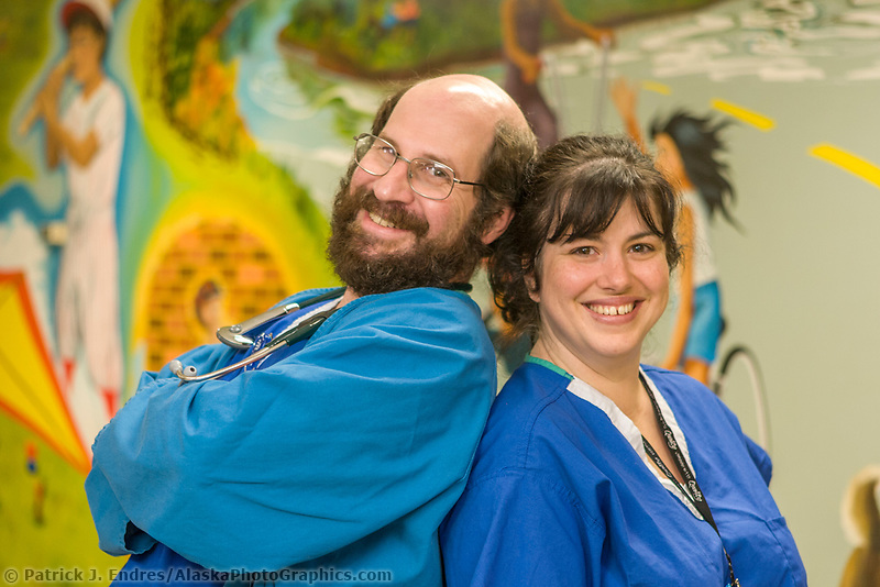 Portrait of medical professionals at the Fairbanks Memorial Hospital.