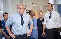 Boris Johnson Visit to North Manchester General Hospital