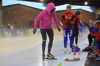 SCHAATSEN: DEVENTER: IJsstadion De Scheg, 12-10-2013, Nationale schaatswedstrijd de IJsselcup, Anice Das, ©foto Martin de Jong