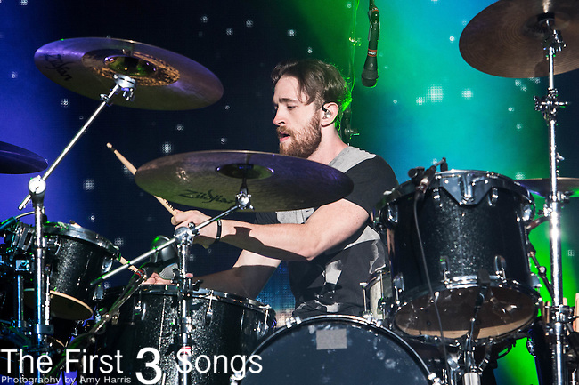 Daniel Platzman of Imagine Dragons performs at White River State Park in Indianapolis, Indiana.