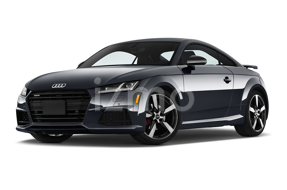 Stock pictures of low aggressive front three quarter view of a 2019 Audi TT-Coupe Base 2 Door Coupe