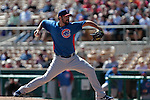 pitcher Jhan Marinez of  Chicago Cubs ,during Cactus League ,Cubs vs Dodgers. Spring Trainig 2013..Camelback Ranch  in Arizona. February 25, 2013 ...© stringer/NortePhoto