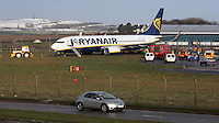 23/12/09 Ryanair flight skids off runway