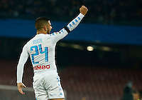 Lorenzo Insigne  celebrates after scoring during the  italian serie a soccer match,between SSC Napoli and Inter      at  the San  Paolo   stadium in Naples  Italy , December 02, 2016