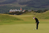 Min A Yoon (South Korea) on the 1st green during Round 2 of the Women's Amateur Championship at Royal County Down Golf Club in Newcastle Co. Down on Wednesday 12th June 2019.<br /> Picture:  Thos Caffrey / www.golffile.ie