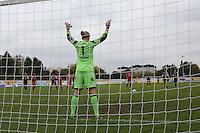 Kathrin Längert (Bayern) beim Elfmeter gegen Lira Bajramaj (FFC) - 1. FFC Frankfurt vs. FC Bayern München