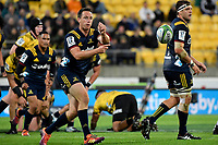 Highlanders' Ben Smith in action during the Super Rugby - Hurricanes v Highlanders at Westpac Stadium, Wellington, New Zealand on Friday 8 March 2019. <br /> Photo by Masanori Udagawa. <br /> www.photowellington.photoshelter.com