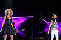 11 June 2017 - Nashville, Tennessee - Karen Fairchild, Kimberly Schlapman, Little Big Town. 2017 CMA Music Festival Nightly Concert held at Nissan Stadium. Photo Credit: Dara-Michelle Farr/AdMedia