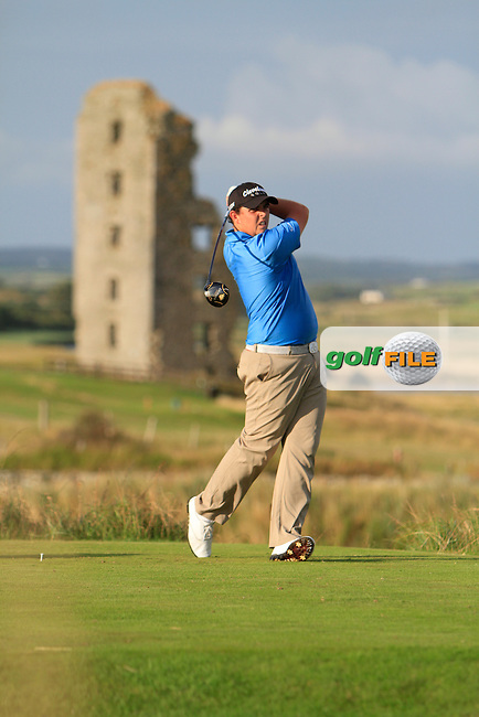 Alan Lowry (Esker Hills/NUIM) on the 13th tee during the South of Ireland Amateur Open Championship Second Round at Lahinch Golf Club  28th July 2013 <br /> Picture:  Thos Caffrey / www.golffile.ie