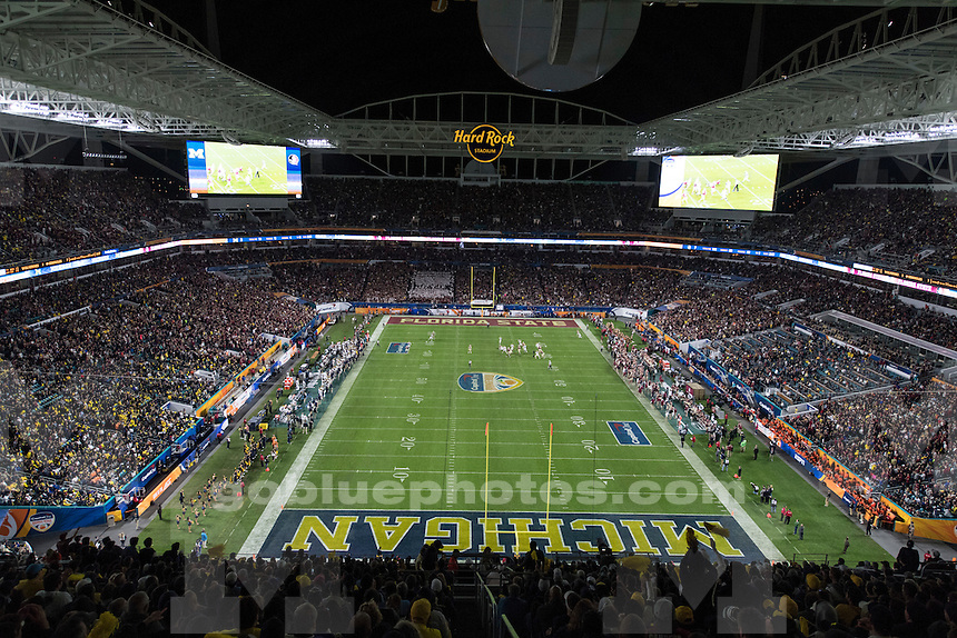 The University of Michigan football team loses to Florida State, 33-32, in the Orange Bowl at Hard Rock Stadium in Miami Gardens, Fla., on Dec. 30, 2016.