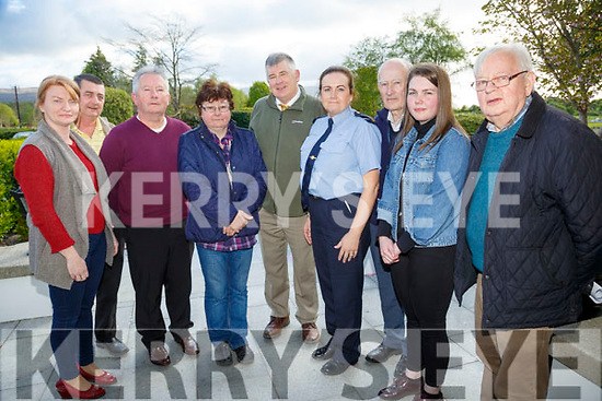 Kerry Garda Divisional community alert, Neighbourhood Watch and Text Alert meeting at Ballygarry House Hotel on Monday. Pictured Listowel Community alert text Group Tracey Horan, James Lavery, Johnny Duggan, Trish Griffin, Diarmuid Cronin, Garda Paula Kelliher, Matt Mooney, Chloe Daly, Jim Griffin