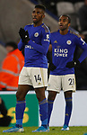 Kelechi Iheanacho of Leicester City waits for a VAR decision after scoring the winning goal against Everton during the Premier League match at the King Power Stadium, Leicester. Picture date: 1st December 2019. Picture credit should read: Darren Staples/Sportimage