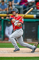 Mike Zunino (3) of the Tacoma Rainiers at bat against the Salt Lake Bees in Pacific Coast League action at Smith's Ballpark on June 14, 2016 in Salt Lake City, Utah. The Bees defeated the Rainiers 9-4.  (Stephen Smith/Four Seam Images)
