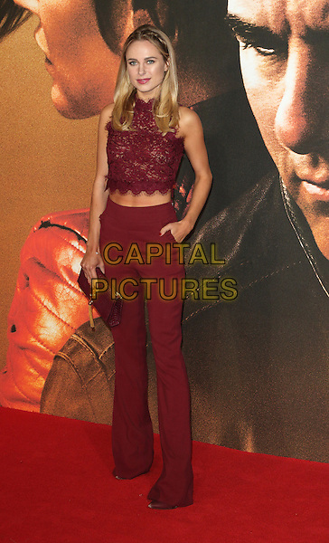 Kimberley Garner at the Jack Reacher Never Go Back European Premiere at Cineworld, Leicester Square, London on October 20th 2016<br /> CAP/ROS<br /> &copy;Steve Ross/Capital Pictures