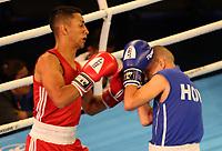 BARRANQUILLA - COLOMBIA, 25-07-2018: RODRIGUEZ CASTILLO Robinson J. (Costa Rica) vs MOLLINA FIGUEROA Bayron Efrain (Honduras) durante su participación en boxeo masculino categoría minimosca como parte de los Juegos Centroamericanos y del Caribe Barranquilla 2018. / RODRIGUEZ CASTILLO Robinson J. (Costa Rica) vs MOLLINA FIGUEROA Bayron Efrain (Honduras) during his participation in the boxing men's light fly category of the Central American and Caribbean Sports Games Barranquilla 2018. Photo: VizzorImage  / Cont