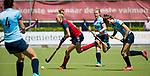 NIJMEGEN -   Sascha Olderaan (Huizen) tijdens  de tweede play-off wedstrijd dames, Nijmegen-Huizen (1-4), voor promotie naar de hoofdklasse.. Huizen promoveert naar de hoofdklasse.  COPYRIGHT KOEN SUYK