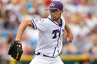 TCU's Matt Purke against Florida State in Game 1 of the NCAA Division One Men's College World Series on Saturday June 19th, 2010 at Johnny Rosenblatt Stadium in Omaha, Nebraska.  (Photo by Andrew Woolley / Four Seam Images)